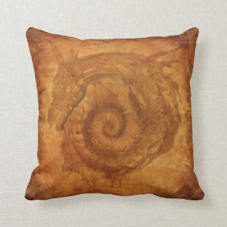 Celtic Spiral Dragon Fantasy Mythology Dragons Throw Pillow