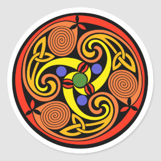 Celtic Spiral Stickers Round Sticker