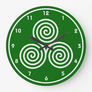 Celtic Spirals Design Wall Clock