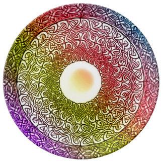 Celtic Spirit Healing Mandala Porcelain Plate