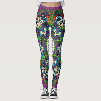 Celtic Spring Fairy Mandala Leggings