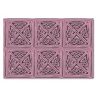 celtic square knot tissue paper