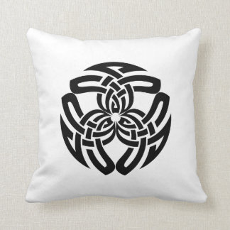 Celtic Square Knot, Triple Pattern Throw Pillow