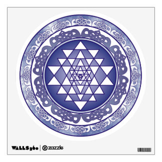 Celtic Sri Yantra Mandala Wall Decal