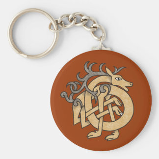 Celtic Stag Keychain