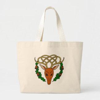 Celtic Stag Large Tote Bag
