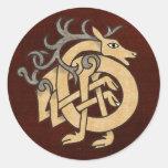 Celtic Stag Sticker
