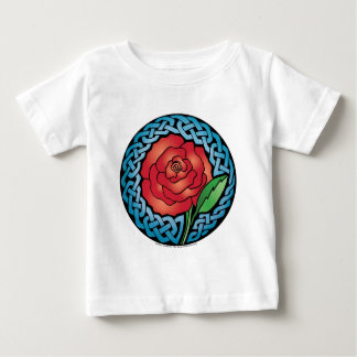 Celtic Stained Glass Rose Baby T-Shirt