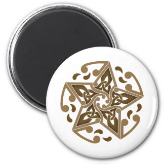Celtic Star 2 Inch Round Magnet