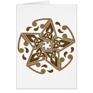 Celtic Star Card