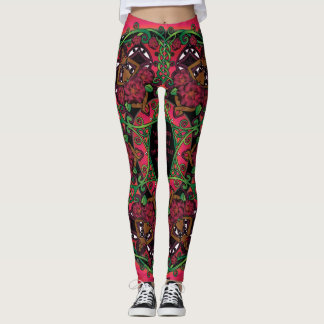 Celtic Summer Fairy Mandala Leggings