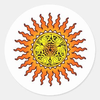 Celtic Sun 2 Classic Round Sticker