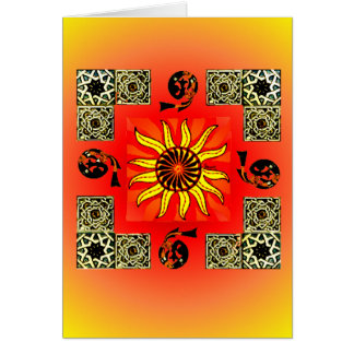 Celtic Sun Mandala Blank Card