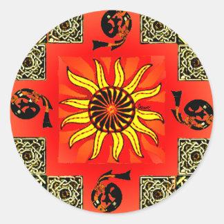 Celtic Sun Mandala Sticker