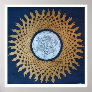 Celtic Sun Poster