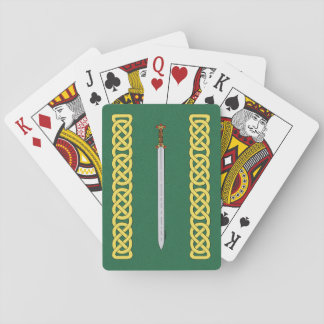 Celtic Sword and Knotwork Playing Cards