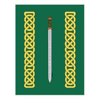 Celtic Sword and Knotwork Postcard