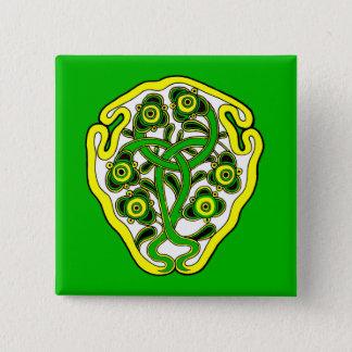Celtic symbol 2 inch square button