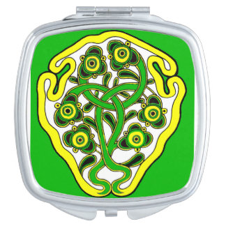 Celtic symbol mirror for makeup