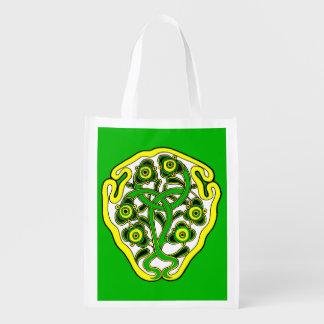 Celtic symbol reusable grocery bag
