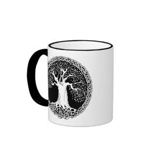Celtic Tree (2-sided) Ringer Coffee Mug