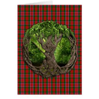Celtic Tree Of Life And Clan MacNaughton Tartan Card
