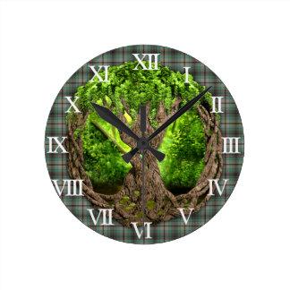 Celtic Tree Of Life Clan Craig Wallclocks