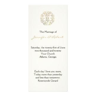 Celtic Tree of Life Gold Wedding Program Personalized Rack Card