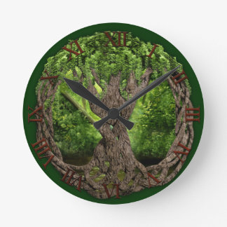 Celtic Tree Of Life Round Clock