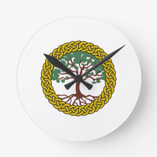 Celtic Tree Of Life Wall Clocks