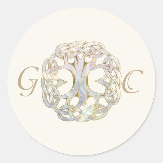 Celtic Tree of Life Wedding Envelope Seal