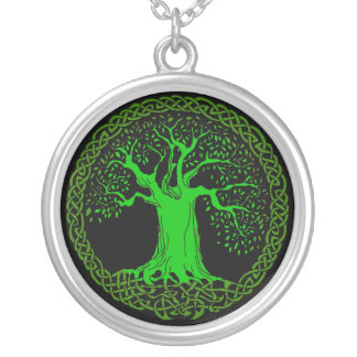 Celtic Tree Silver Plated Necklace