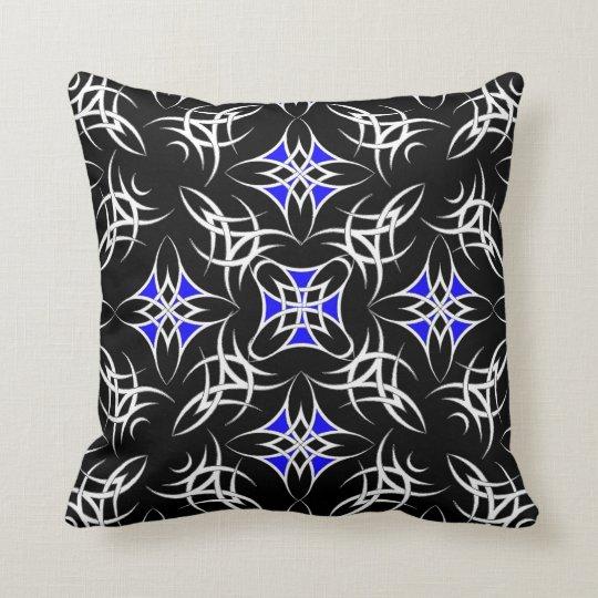 Celtic Tribal ( Blue ) Throw Pillow