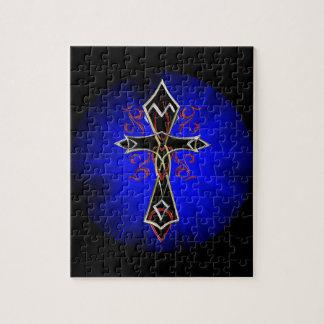 Celtic Tribal Cross Jigsaw Puzzle