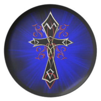 Celtic Tribal Cross Party Plates