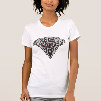 Celtic/Tribal Glowing Black & Red Heart T-Shirt