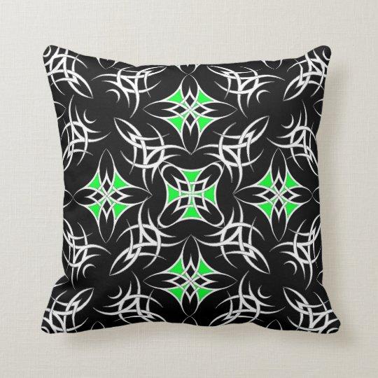 Celtic Tribal ( Green ) Throw Pillow