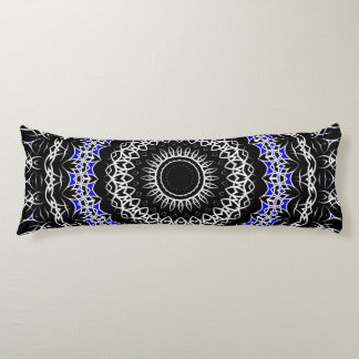 Celtic Tribal Mandala ( Blue ) Body Pillow