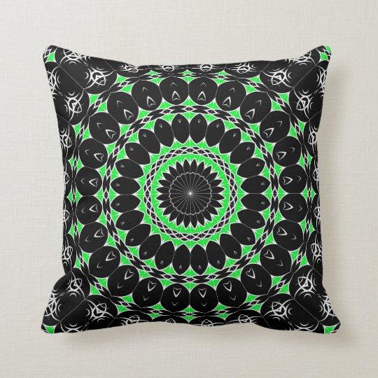 Celtic Tribal Mandala ( Green ) Throw Pillow