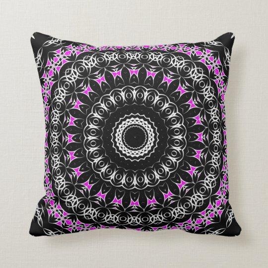 Celtic Tribal Mandala ( Pink ) Throw Pillow