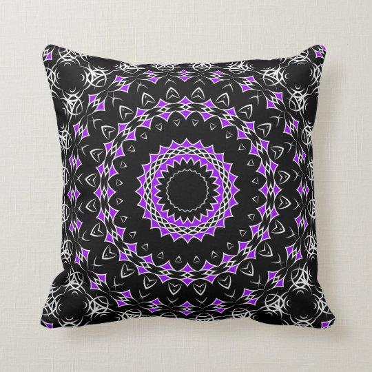 Celtic Tribal Mandala ( Purple ) Throw Pillow