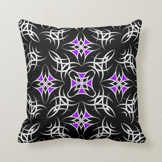Celtic Tribal ( Purple ) Throw Pillow