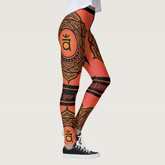 Celtic Tribal Sacral Chakra Leggings
