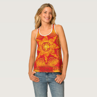 Celtic Tribal Sun Tank Top