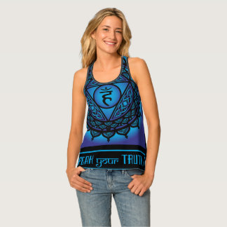 Celtic Tribal Throat Chakra Tank Top