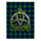 Celtic Trinity Knot And Clan Johnston Tartan Postcard