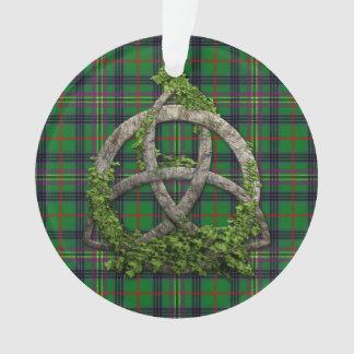 Celtic Trinity Knot And Clan Kennedy Tartan Ornament