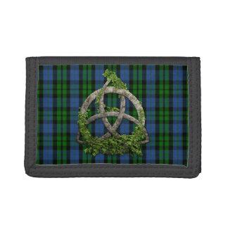 Celtic Trinity Knot And Clan MacKay Tartan Trifold Wallet