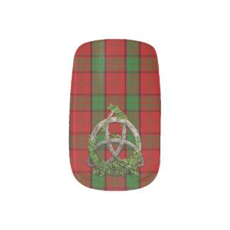 Celtic Trinity Knot And Clan Maxwell Tartan Minx Nail Art