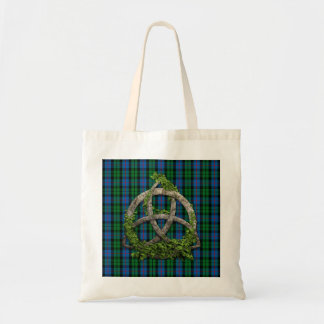 Celtic Trinity Knot And Clan Morrison Tartan Tote Bag
